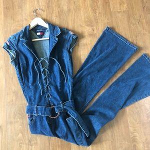 VTG Tommy Jeans Denim Jumpsuit size Medium